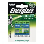 Batterie ricaricabili Energizer - AAA - ministilo - 500 - 638624 (Conf.4) - 383290 - Energizer