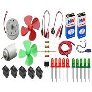 NextGeek™ Electronics 30 Items Loose Parts Materials Science Project Kit Educational Electronic Hobby Kit