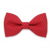 Előre kötött férfi nyakkendő piros színben, pöttyös mintával 10059