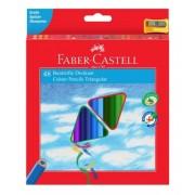 Creioane Colorate triunghiulare cu ascutitoare Eco 48 culori/set Faber-Castell