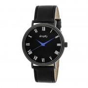 Simplify The 2900 Leather-Band Watch - Black SIM2904