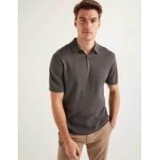 Boden Grau Finsbury Strick-Poloshirt Herren Boden, XL, Charcoal Marl