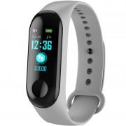 Bratara Fitness iUni N3C, Display OLED 0.96 inch, Bluetooth, Pedometru, Notificari, Gri