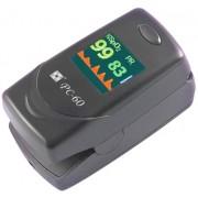 CREATIVE PC-60C Oxigénszaturáció pulzusszám- és intenzitásmérés szívritmus görbe 24bit színes OLED riaszt.