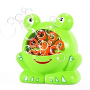 Geekper Bubble Machine for Kids, Mini Automatic Blower Durable Maker, 500 Bubbles per Minute Simple and Easy to Use