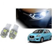 Auto Addict Car T10 5 SMD Headlight LED Bulb for Headlights Parking Light Number Plate Light Indicator Light For Datsun Go