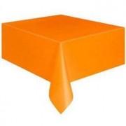Tafelkleed oranje plastic