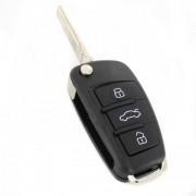 Carcasă cheie tip briceag, 3 butoane - Audi Q7