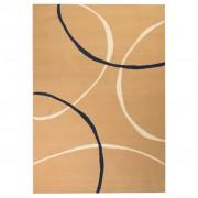 vidaXL barna modern szőnyeg kör mintával 160 x 230 cm