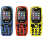 Inovu A1i (Dual Sim 1.77 Inch Display 800 Mah Battery) - COMBO OF THREE DIFFERENT COLOR (BLUE ORANGE YELLOW)