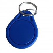 (pack of 50) ISO14443A RFID MF Classic 1K Key Fob Blue color RFID keychains 13.56MHz IC key tags token for access control system