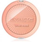 Makeup Revolution Skin Kiss iluminador para ojos y pómulos tono Rose Gold Kiss 14 g