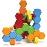 Joc de constructie IQ HexActly Fat Brain Toys, 24 blocuri