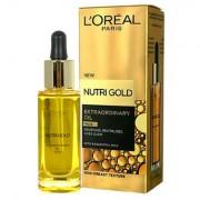 L´Oréal Paris Nutri-Gold Extraordinary Oil siero per il viso per pelle secca 30 ml donna