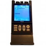 Electroestimulador TN-23 (Tens + Ems): Tens com 12 programas sequenciais mais EMS com programa universal