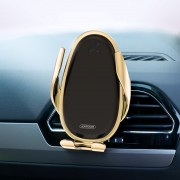 JOYROOM Magnetic Car Air Vent Mount Phone Holder 15W Fast Charging Wireless Charger for 4''-6.5'' Smart Phones - Gold