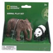 Set 2 figurine Elefant si Urs Panda National Geographic, 3 ani+