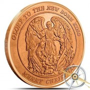 Christmas Series ~ Christmas Angel 1 oz .999 Pure Copper Round/Challenge Coin