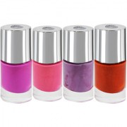 LaPerla International Multicoloured Shade-101A Nail Paint Pack of 4