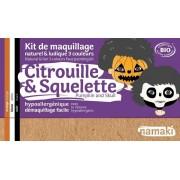NAMAKI Kit maquillage bio 3 couleurs - Citrouille et Squelette