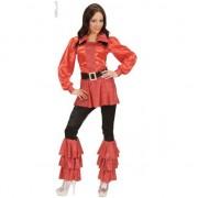 Geen Rode verkleedkleding lange dames blouse
