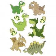 Geen 27x Dinosaurussen met wiebeloogjes stickertjes voor kinderen