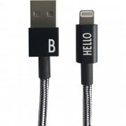Design Letters Lightning kabel Svart 1 Meter, B