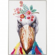 Kare Picture Flowers Bird 102x72 cm