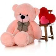 BB TOYS large Very Soft 4 Feet Lovable/Huggable Teddy Bear with Neck Bow for Girlfriend/Birthday Gift/Boy/Girl (152 CM pink)