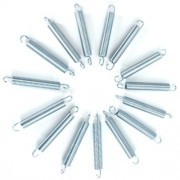"4.5"" Trampoline Springs heavy-duty galvanized-Set of 15 (spring size measures from hook to hook)"