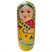 ITOS365 Hand Painted - Nesting Doll - Wooden Decoration Gift Doll - Stacking Nested Wood Dolls for Kids - Set of 10 (10 Dolls in 1)