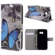 Кожен калъф за Samsung Galaxy S7 с пеперуда