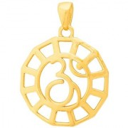 Dare by Voylla Smooth Gold Plated OM Pendant From Spiritual Saga