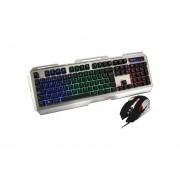 Kit Gamer De Teclado Y Mouse Naceb Na-0911 Cyborg Led Rgb, Usb. NA-0911