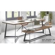 items-france TABLE A MANGER WOOD - Table a manger bois massif 200x100x76cm