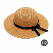 Nombre personalizado logotipo de texto de playa parade verano de Sol para niñas lazo de lazo de paja de ala de al aire libre dropshipping. Exclusivo. Sombrero LANG(#H2)(#Font-(#F5))