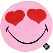 SmileyWorld Heart Eyes Soft Cushion 12 Inches Pink by Ultra