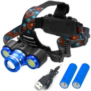 Rechargeable Zoomable Cree Led Headlight Head Lamp Light Torch Flashlight - 37 A