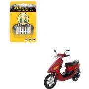 Auto Addict Scooty Tire Pressure Air Alert Iron Tyre Valve Caps Set of 4 Pcs For Indus Electron ER 7