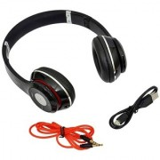 SBA ENTICE S460 Foldable Wireless Bluetooth Headphone Headset Support Hands-free TF Card FM MP3 BLACK