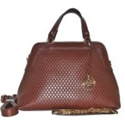 Fashion Lounge Snake Skin Design Brown Messenger Bag