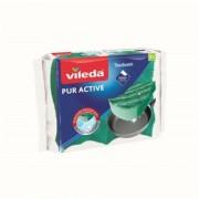 Mosogatószivacs, 2 db, VILEDA Pure Active (KHT214)