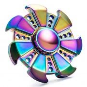 Zinc Alloy Rainbow Fidget Spinner (7-Side) Ninja Star
