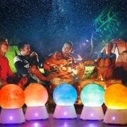 Creative SATURN Planète Conception Magic Music Basse Sound Box Bluetooth V2.1 + EDR Haut-Parleur LED Atmosphère Nuit Lampe Nouveauté Cadeaux