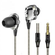 VJJB V1 V1S 4 Speakers HIFI Kwaliteit Geluid Metalen In Ear Oortelefoon Oordopjes Dubbele Cirkel Hifi Subwoofer Monitor Koptelefoon Oordopjes