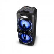 Auna Bazzter Party Sistema de audio 2 x 50 W RMS Batería BT USB MP3 AUX FM LED Micrófono (KC13 - Bazzter)