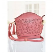 Floral Cut Out Handbag Accessories & Handbags - Red