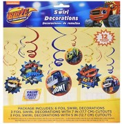 Amscan Blaze and The Monster Machines Value Pack Foil Swirl Decorations