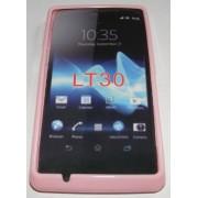 Силиконов гръб ТПУ за Sony Xperia TX LT30P Розов