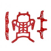 Generic whole kit : Red Tamiya Mini 4WD RC Car spare parts Chassis/Leading head/Pteris tail front/rear plate for SUXX Evo.1 red color